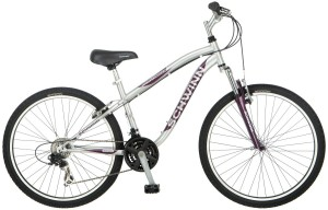 Schwinn Womens High Timber Mountain Bike, Silver Small
